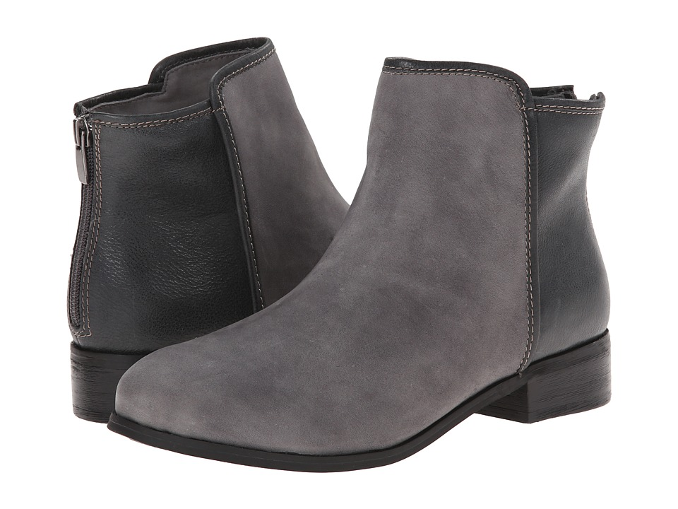 Trotters - Ladue (Graphite Distressed Nubuck Leather/Dark Grey Vintage Textured Le) Women
