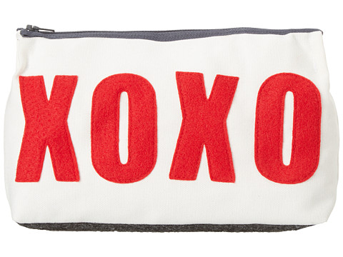 Alexandra Ferguson - XOXO Make-Up Case (Cream/Red) Bags
