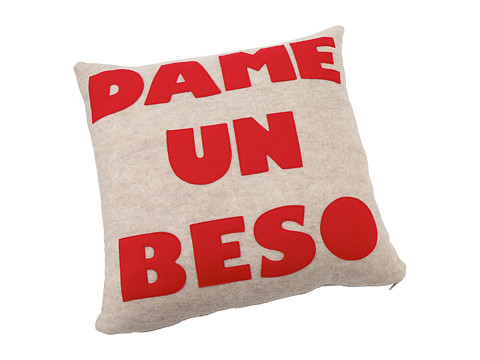 Alexandra Ferguson - Dame Un Beso Pillow (Oatmeal/Red) Sheets Bedding