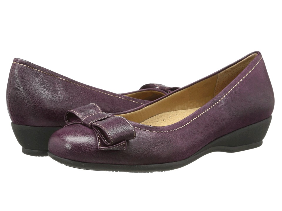 Trotters - Landry (Burgundy Casual Veg Leather) Women's Slip on Shoes