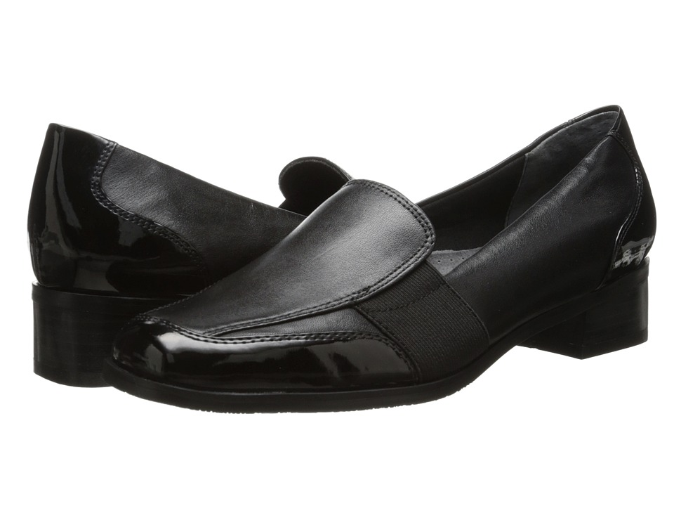 Trotters - Arianna (Black Patent Leather/Burnished Soft Kid) Women's Shoes