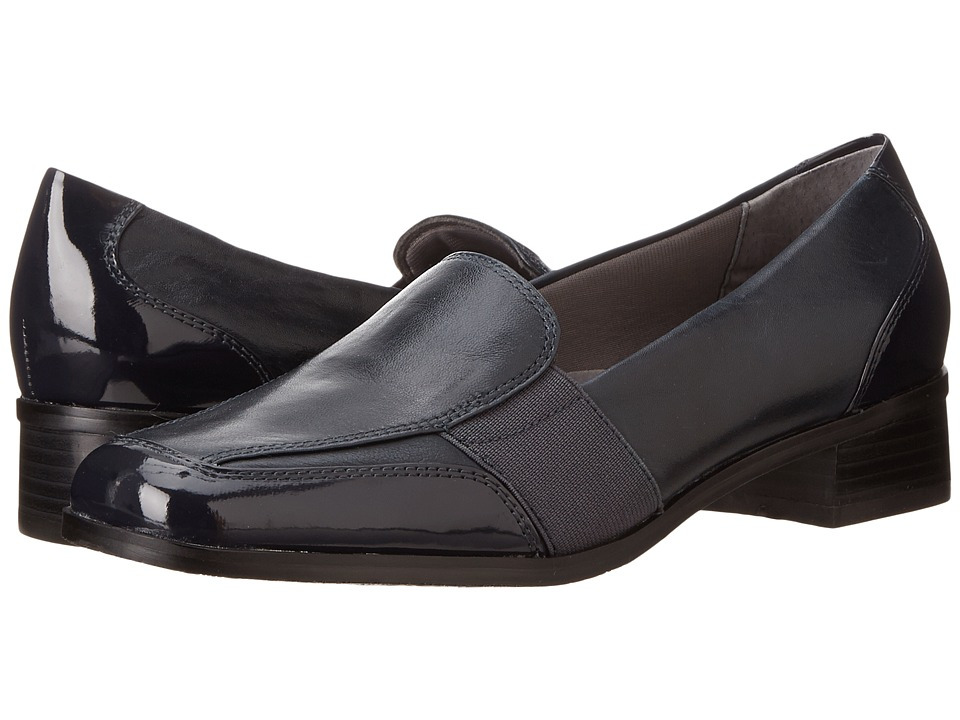 Trotters - Arianna (Navy Patent Leather/Burnished Soft Kid) Women's Shoes