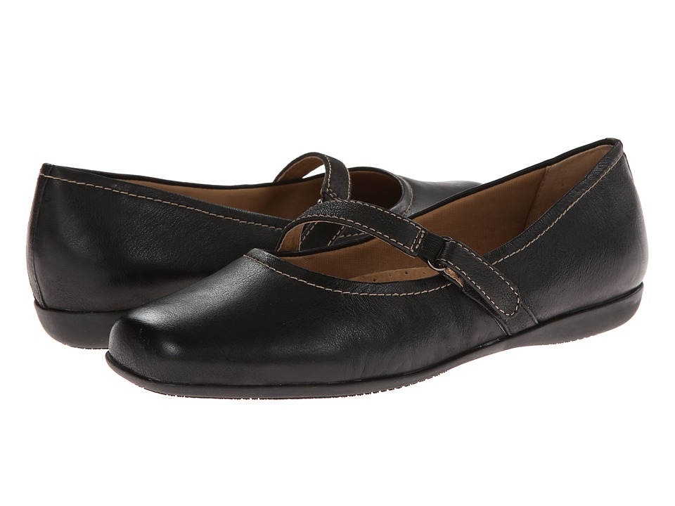 Trotters Simmy (Black Veg Tumbled Leather) Women