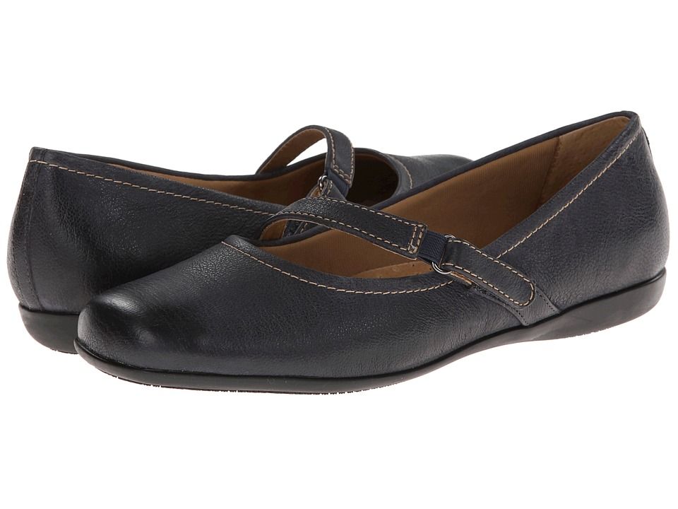 Trotters Simmy (Dark Blue Veg Tumbled Leather) Women