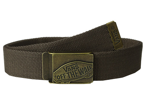 Vans - Conductor Web Belt (Chocolate) Men's Belts