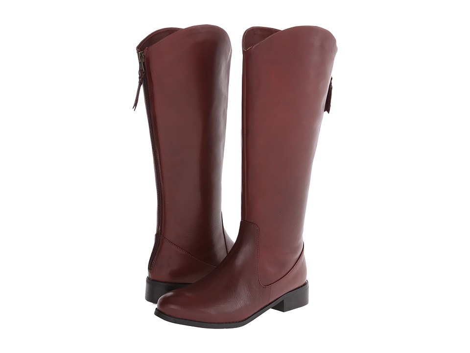 Trotters - Logan (Burgundy Calf Leather) Women