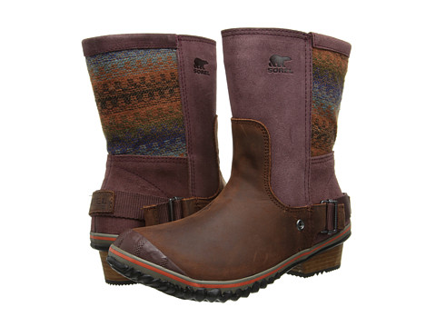 SOREL - Slimshortie (Madder Brown/Bonfire) Women