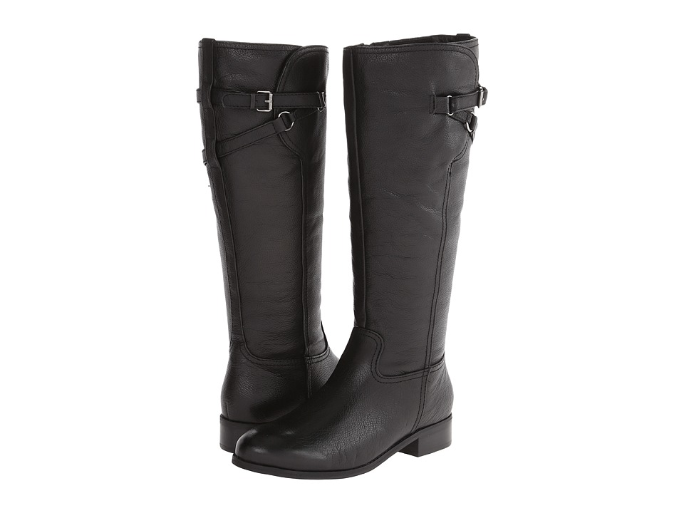 Trotters - Lucky Too (Black Veg Tumbled Leather) Women's Boots