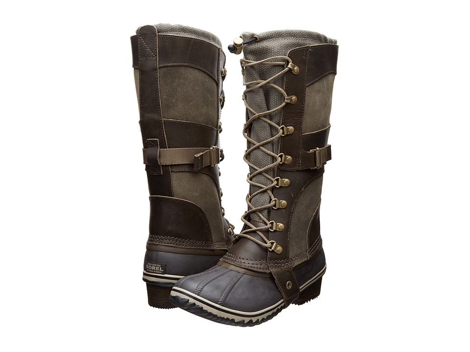 SOREL Conquesttm Carly (Camo Brown/Pebble) Women's Cold Weather Boots