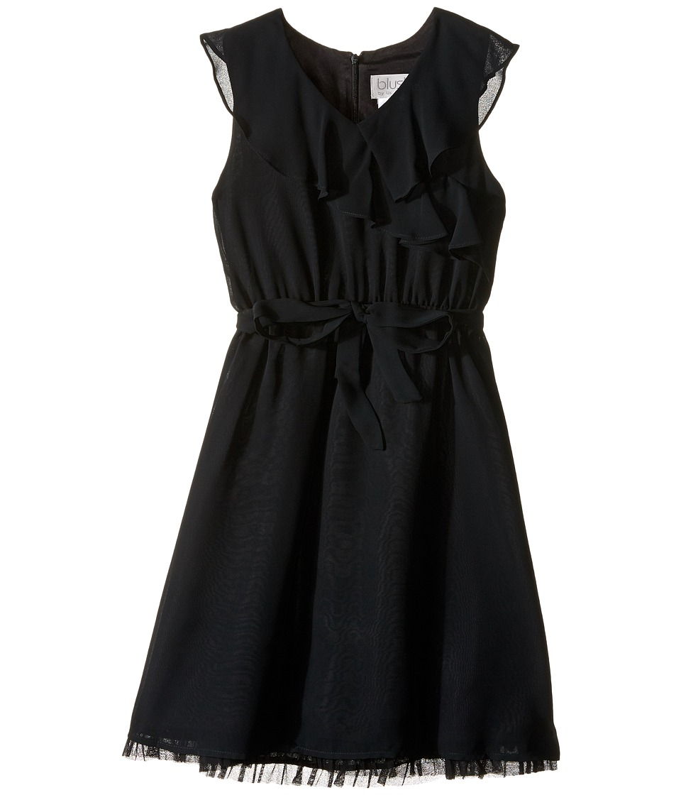 Us Angels - Sleeveless Ruffle Front Waisted Dress (Big Kids) (Black) Girl's Dress