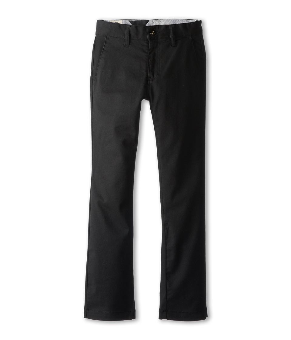 Volcom Kids - Frickin Modern Stretch Chino Pant (Big Kids) (Black) Boy's Casual Pants