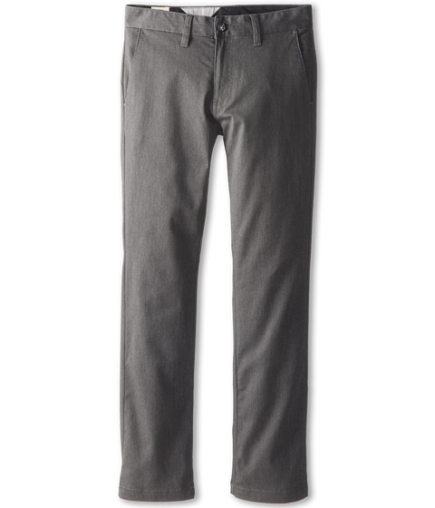 Volcom Kids - Frickin Modern Stretch Chino Pant (Big Kids) (Charcoal Heather) Boy's Casual Pants