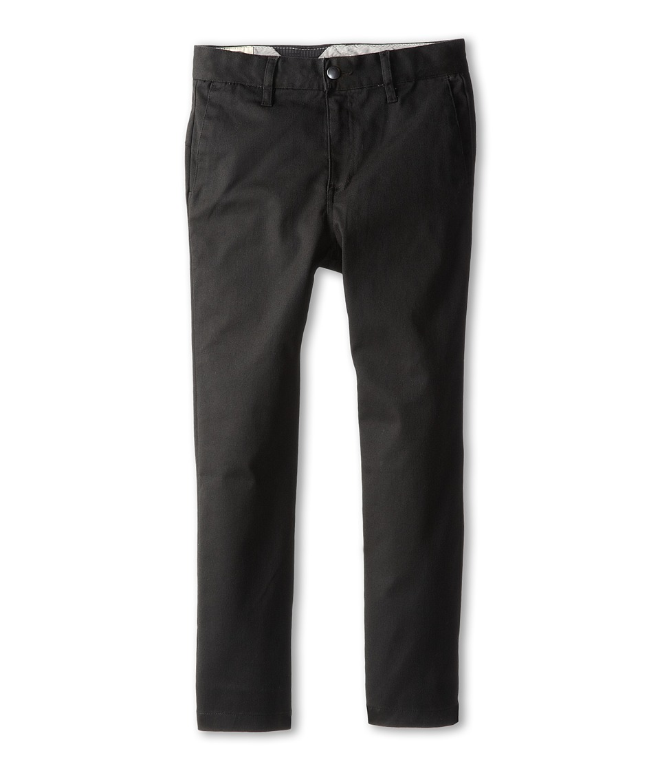 Volcom Kids - Frickin Modern Stretch Chino Pant (Toddler/Little Kids) (Black) Boy's Casual Pants