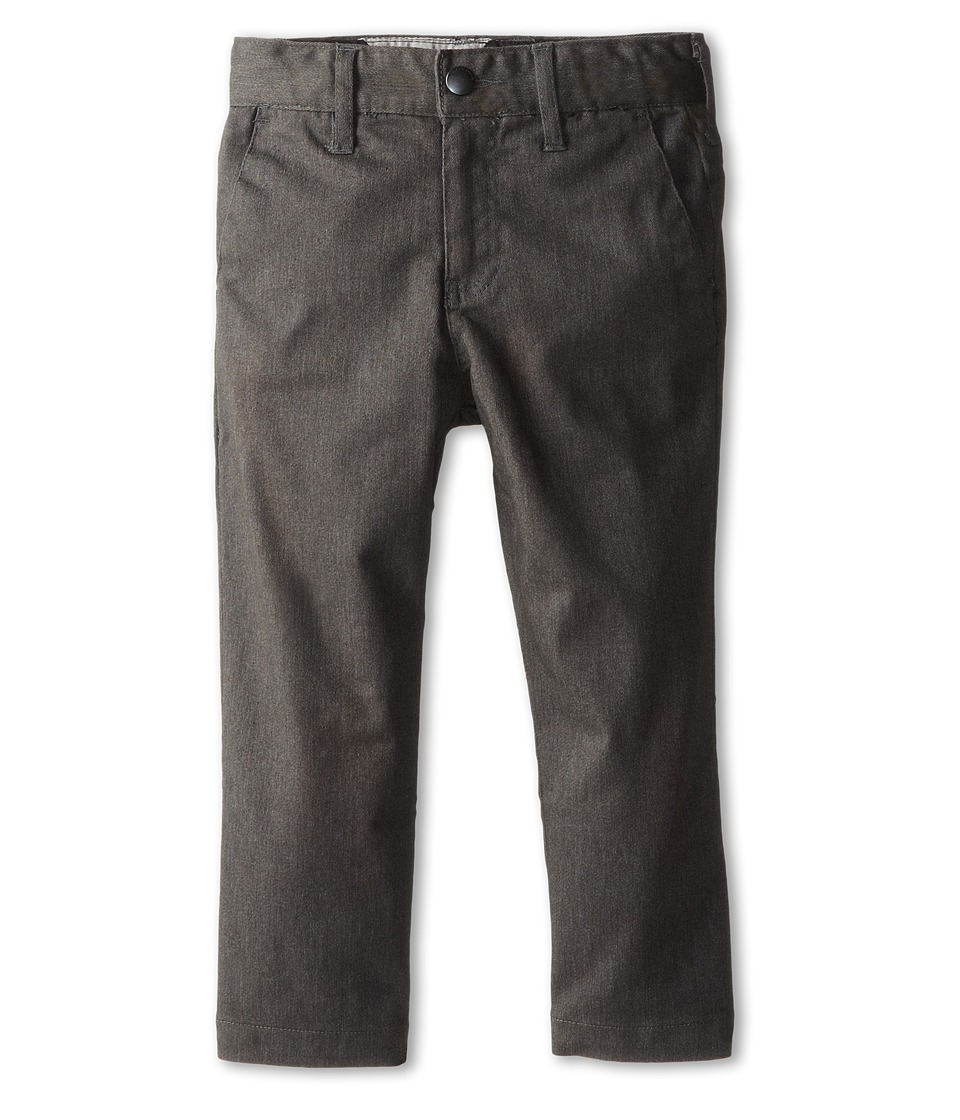 Volcom Kids - Frickin Modern Stretch Chino Pant (Toddler/Little Kids) (Charcoal Heather) Boy's Casual Pants