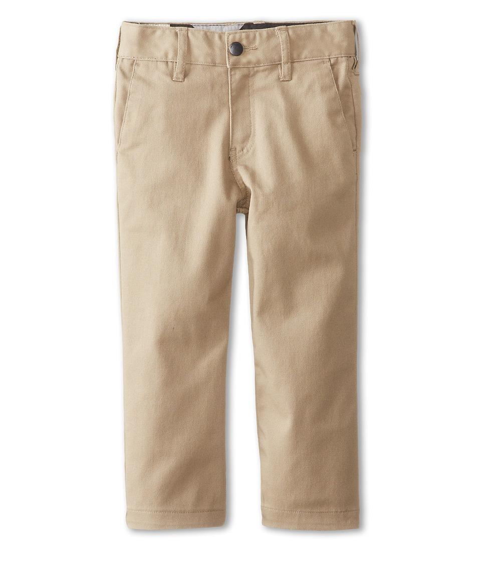Volcom Kids - Frickin Modern Stretch Chino Pant (Toddler/Little Kids) (Khaki) Boy's Casual Pants
