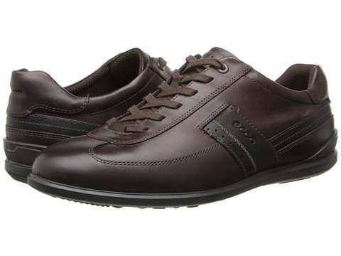 ECCO - Chander Dress Sneaker (Coffee/Black/Espresso) Men's Lace up casual Shoes