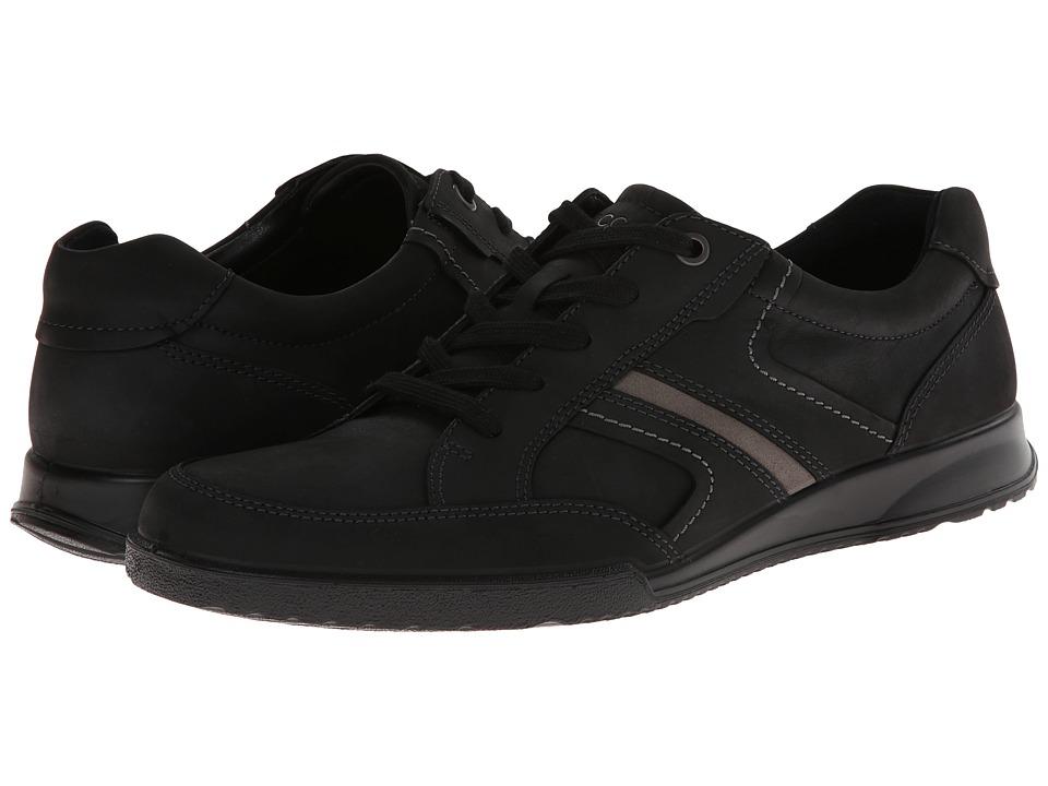 ECCO - Transporter Casual Tie (Black/Warm Grey) Men's Lace up casual Shoes
