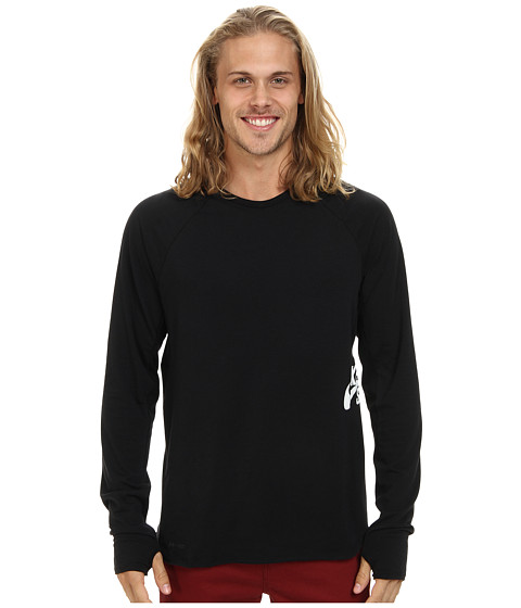 Nike SB - SB Dri-Fit Skyline L/S Crew (Black) Men's Long Sleeve Pullover