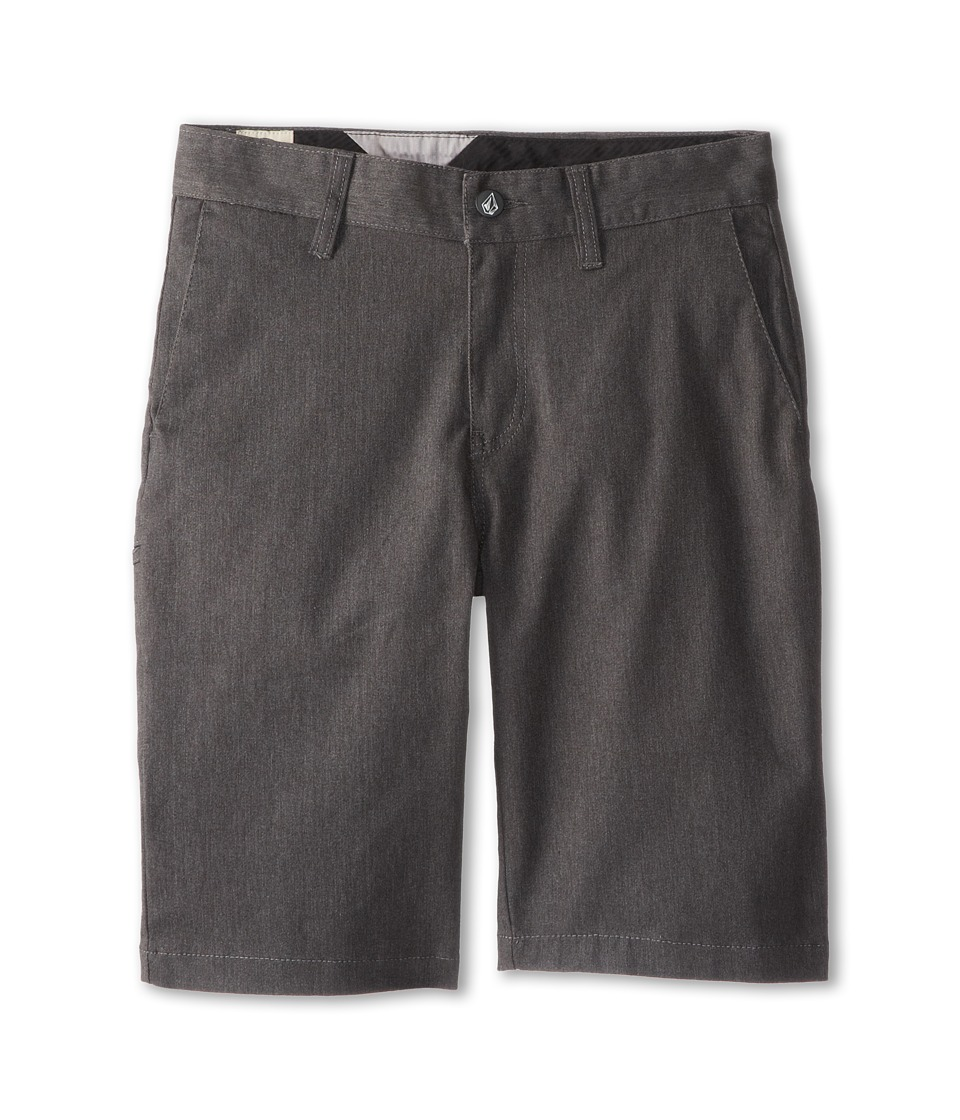 Volcom Kids - Frickin Modern Stretch Short (Big Kids) (Charcoal Heather) Boy's Shorts