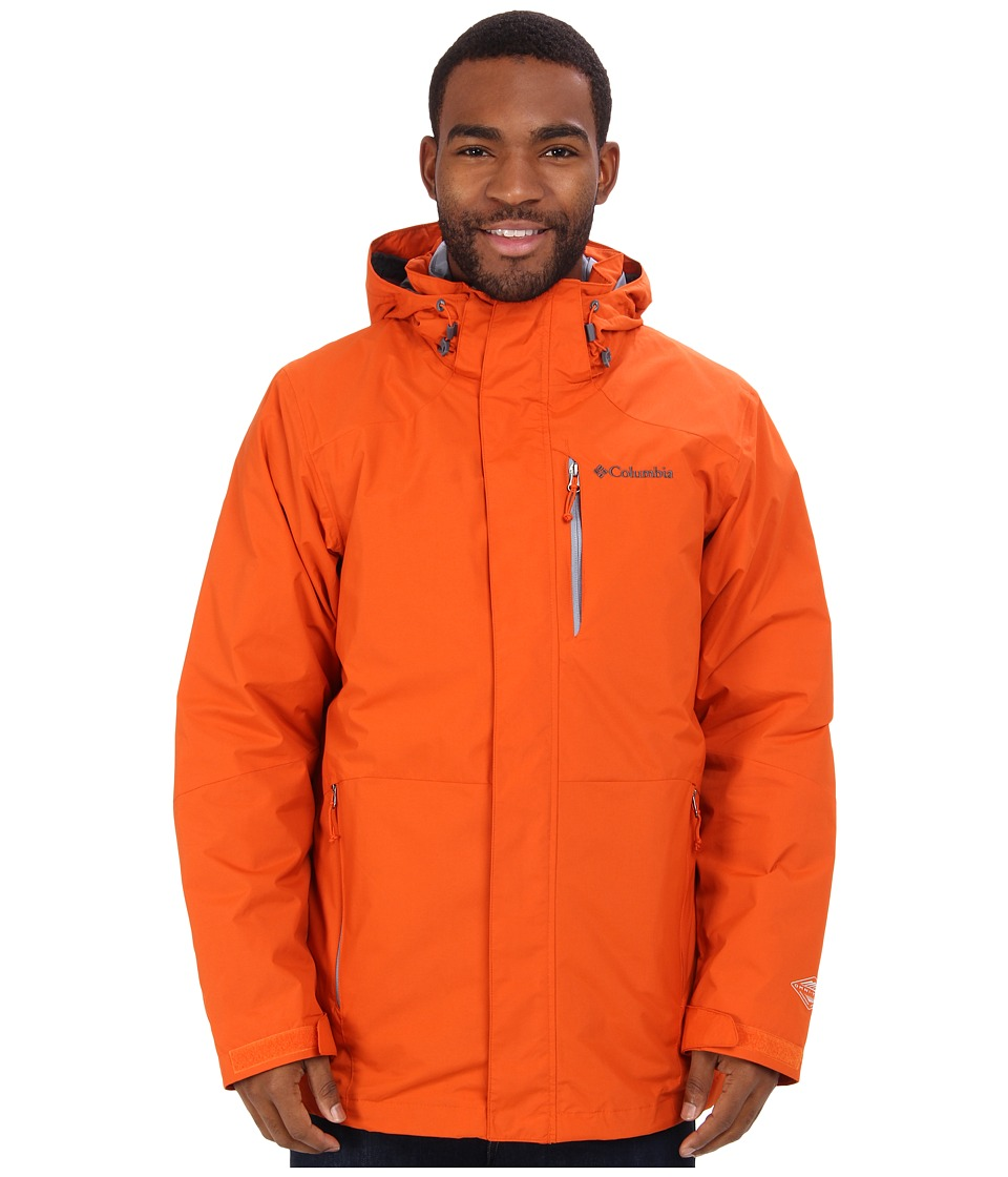 Columbia - Element Blocker Interchange Jacket (Backcountry Orange) Men
