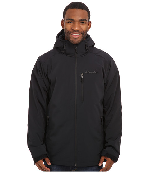 Columbia - Gate Racer Softshell (Black/Graphite Pop) Men's Coat