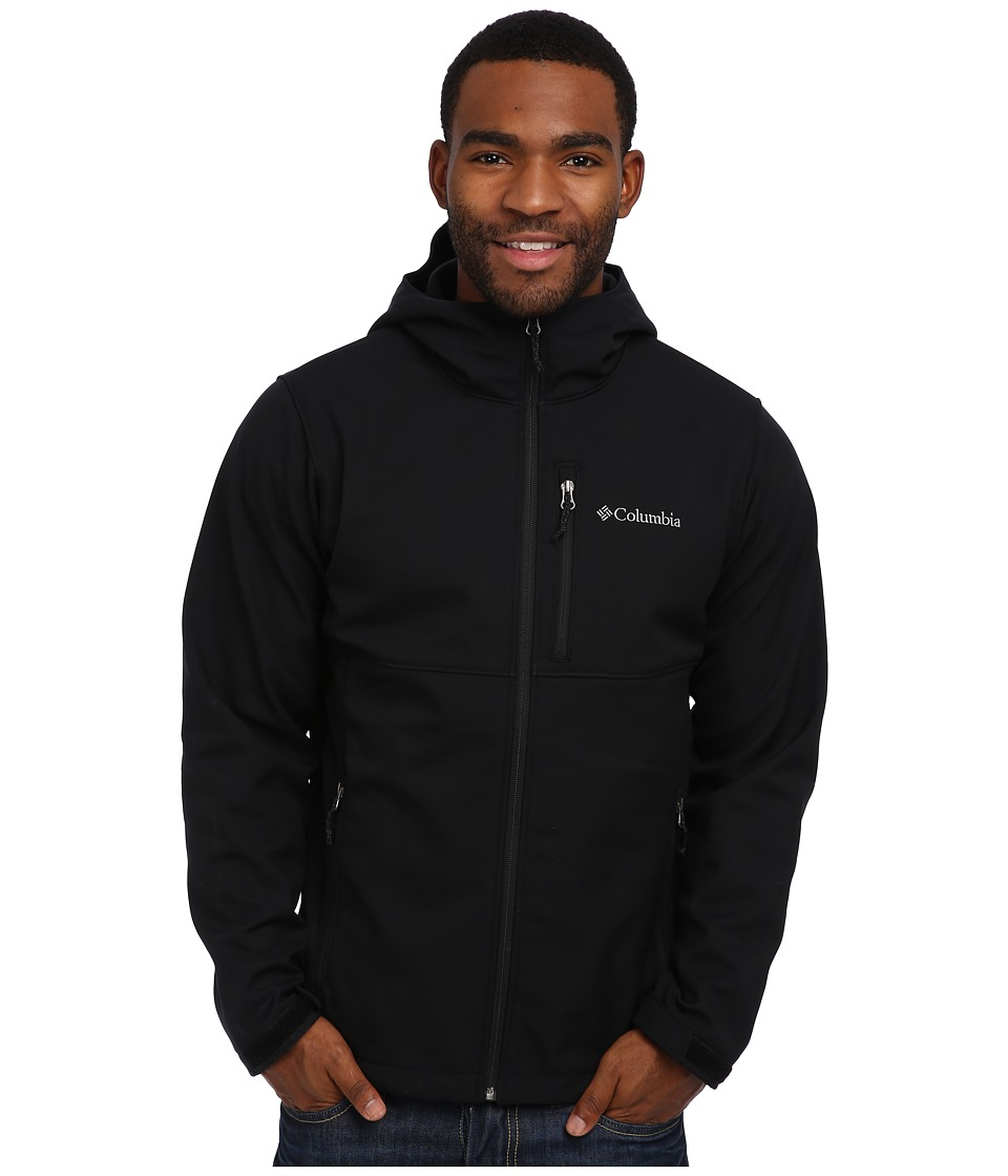Columbia - Ascendertm Hooded Softshell Jacket (Black) Men's Coat
