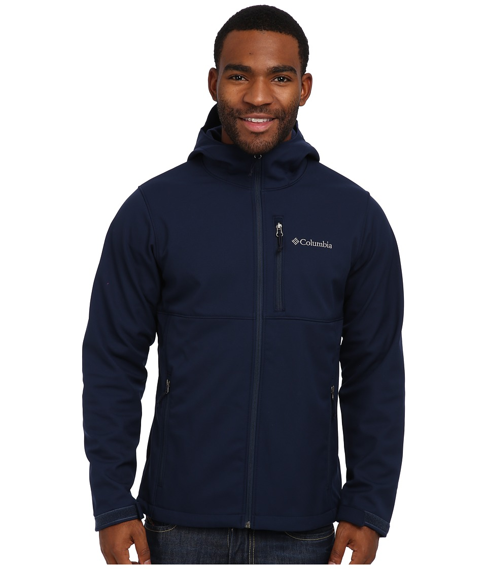 Columbia - Ascender Hooded Softshell Jacket (Collegiate Navy) Men's Coat