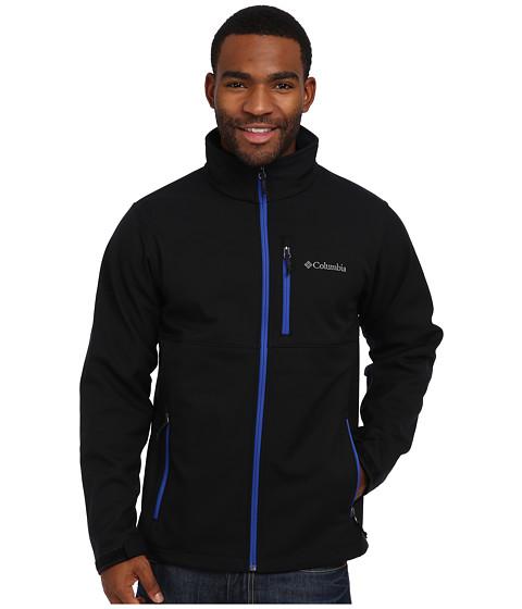 Columbia - Ascender Softshell Jacket (Black/Azul Pop) Men's Coat