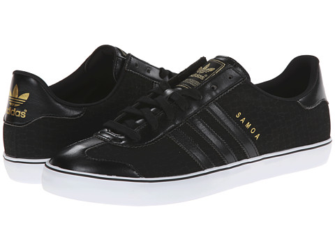 adidas Originals - Samoa Vulc (Black/Black/White Multi Snake) Men