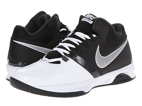 Nike - Air Visi Pro V (White/Metallic Silver/Black/Anthracite) Men's Basketball Shoes