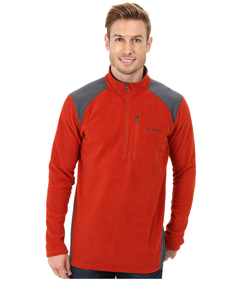 Columbia - Elevator Shaft Hybrid Half Zip (Flame/Graphite) Men's Long Sleeve Pullover