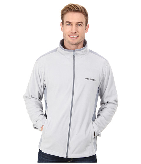 Columbia - Klamath Range Full Zip (Cool Grey/Tradewinds) Men's Fleece