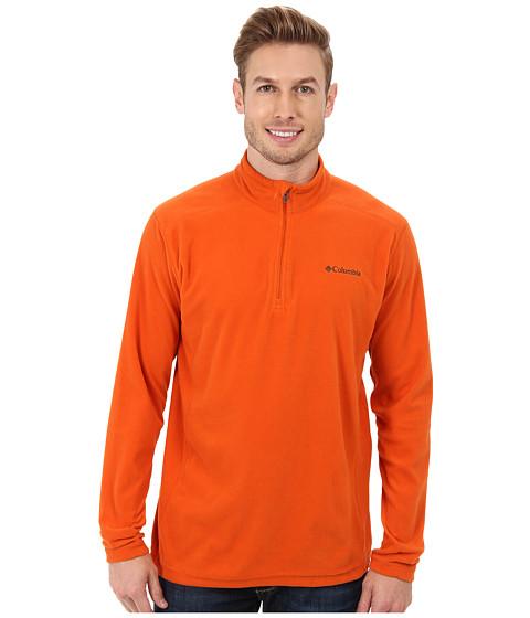 Columbia - Klamath Range II Half Zip (Backcountry Orange) Men's Long Sleeve Pullover