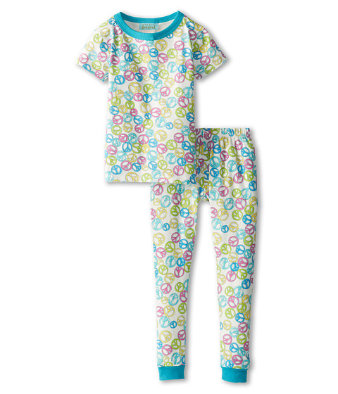 BedHead Kids - Short Sleeve Snug PJ (Toddler/Little Kids) (Peace Out Green) Kid's Pajama Sets
