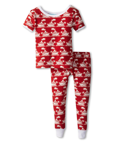 BedHead Kids - Short Sleeve Baby Tee Pant Set (Infant) (Steam Boat Red) Kid's Pajama Sets