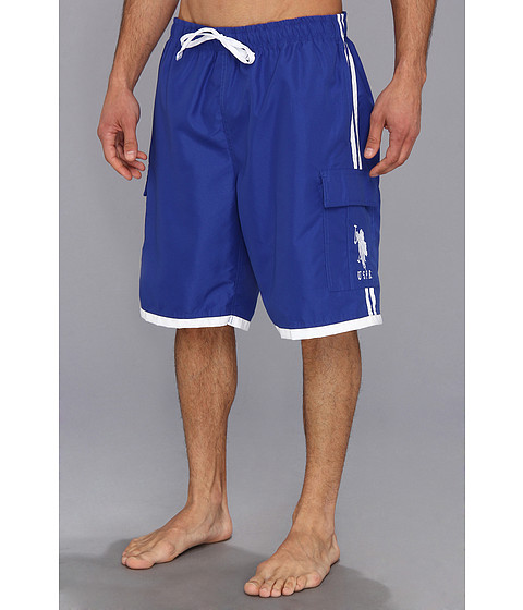U.S. POLO ASSN. - 11 Side Stripe Cargo BP (Cobalt Blue) Men
