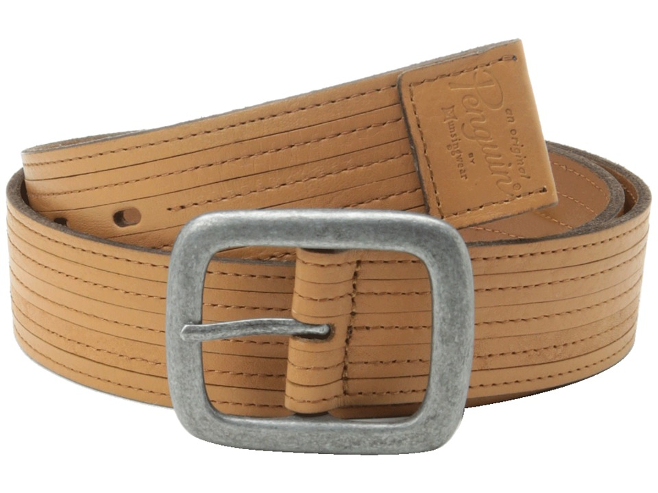 Original Penguin - Leather Belt 1 (Tan) Men's Belts
