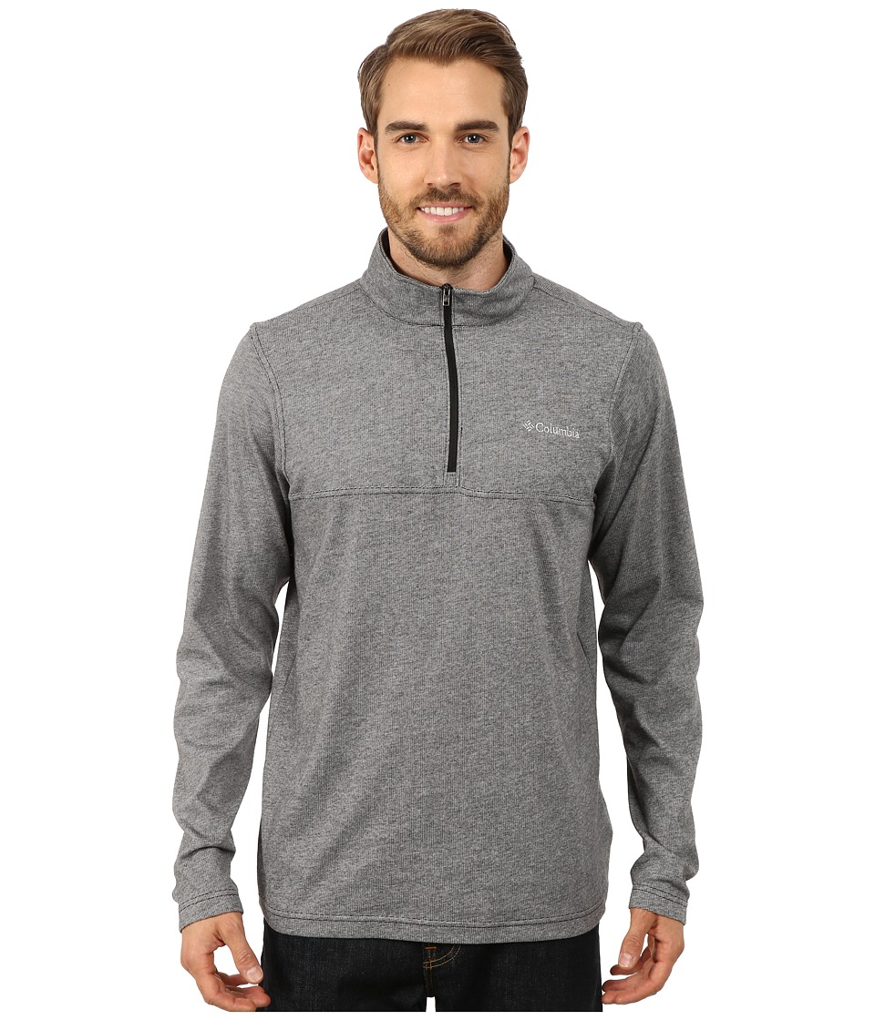 Columbia - Alpine Thistle Half Zip (Black) Men's Clothing