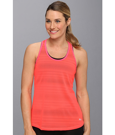 Fila - Lacy Loose Fit Layering Tank (Diva Pink) Women's Sleeveless