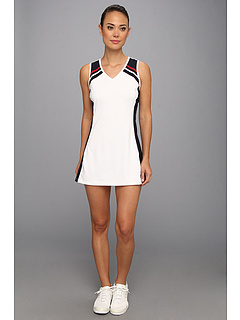SALE! $29.25 - Save $36 on Fila Tradizone Dress (White Peacoat Crimson) Apparel - 55.00% OFF $65.00
