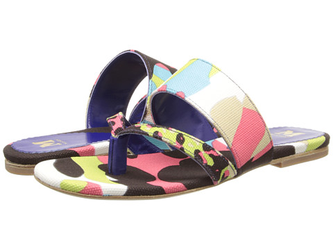 M Missoni - Camouflage Animal Print Canvas Thong Sandal (Pink) Women's Sandals