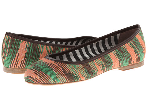 M Missoni - Spacedye Ballet Flat (Orange) Women's Dress Flat Shoes