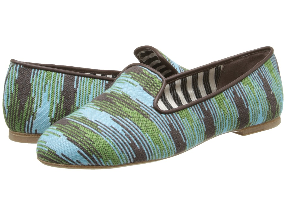 M Missoni - Spacedye Smoking Slipper (Turquoise) Women's Slippers