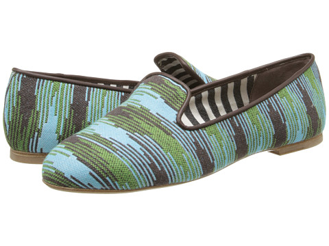 M Missoni - Spacedye Smoking Slipper (Turquoise) Women's Slippers