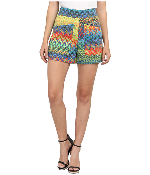 M Missoni - Zig Zag Print Cotton Stretch Shorts (Multi) Women's Shorts