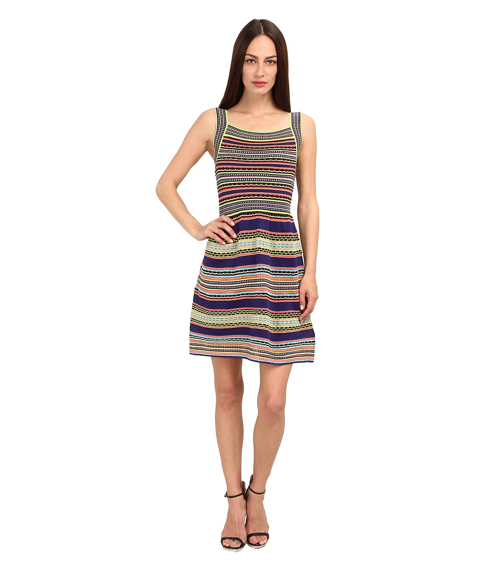 M Missoni - Ribbon Stripe Knit Tank Dress (Purple) Women's Dress