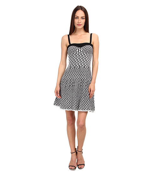 M Missoni - Micro Vertical Fan Stitch Tank Dress (Black) Women's Dress