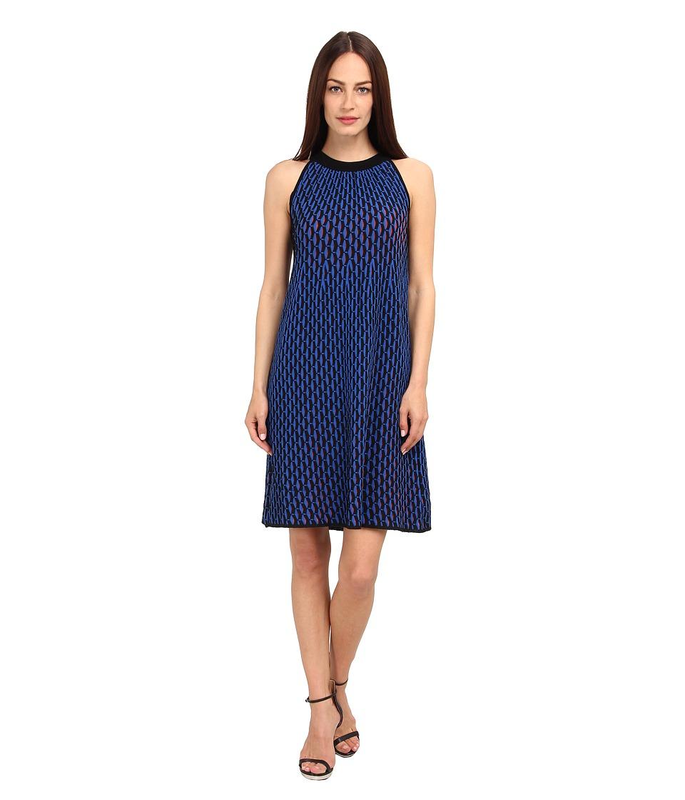M Missoni - Micro Vertical Fan Stitch Dress (Cobalt/Cobalt/Academy) Women