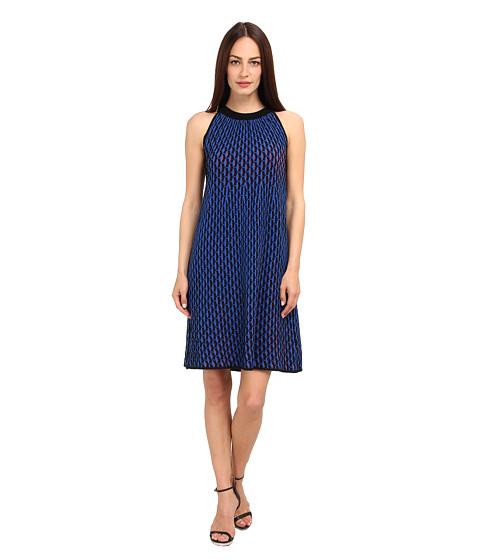 M Missoni - Micro Vertical Fan Stitch Dress (Cobalt/Cobalt/Academy) Women's Dress