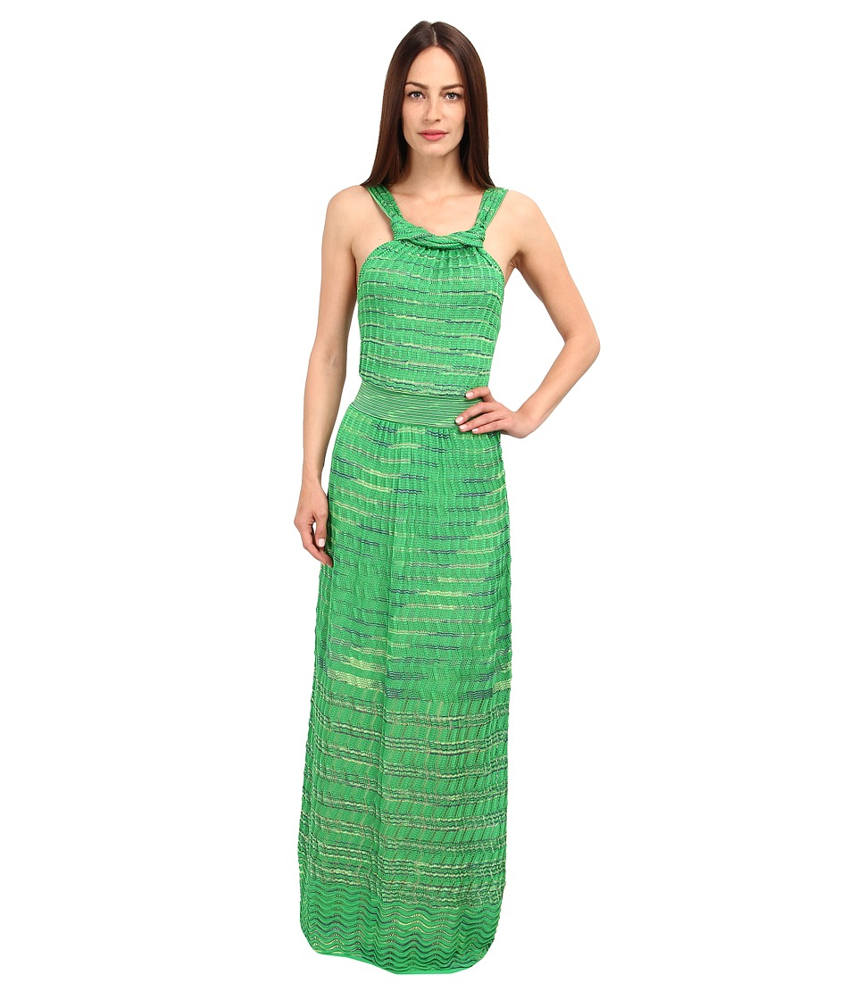 M Missoni - Spacedye Serpentine Stitch Maxi Dress (Leaf) Women's Dress